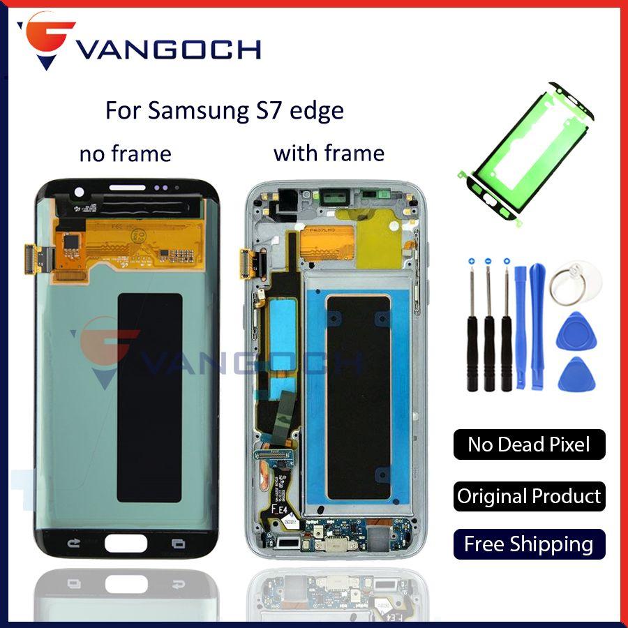 Original Super Amoled LCD Screen Touch Digitizer für Samsung Galaxy S7 rand g935 g935f g935fd Display Ersatz