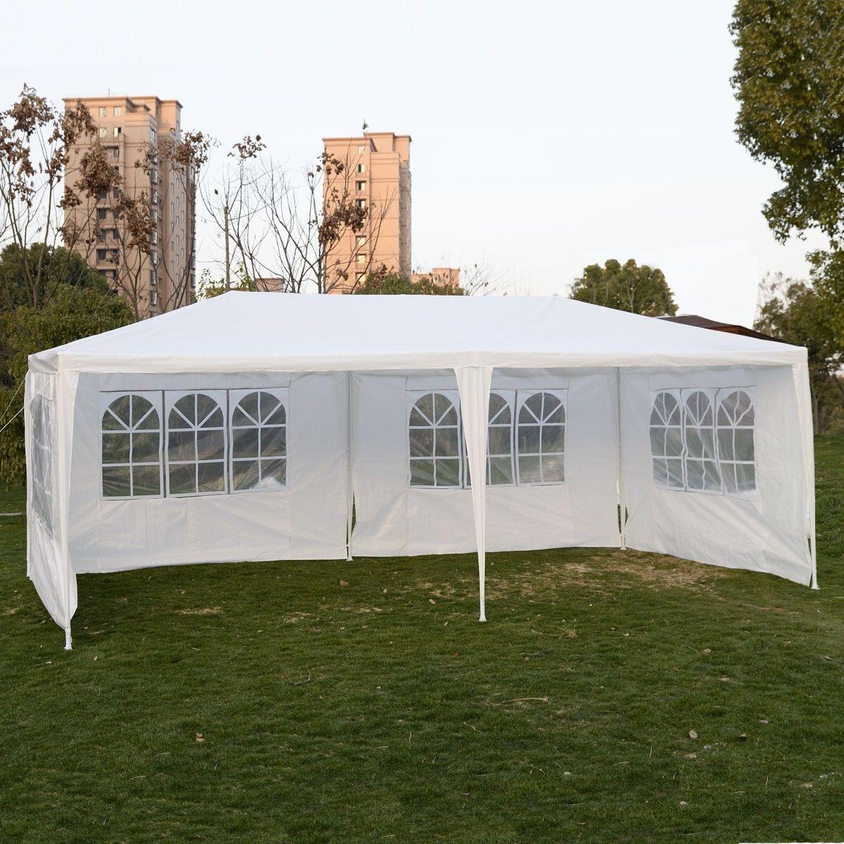 Goplus Extérieure 10 'X20 'Canopy Partie Tente De Mariage Jardin Patio Gazebo Pavillon Cater Événements 4 Flanc AP2067WH