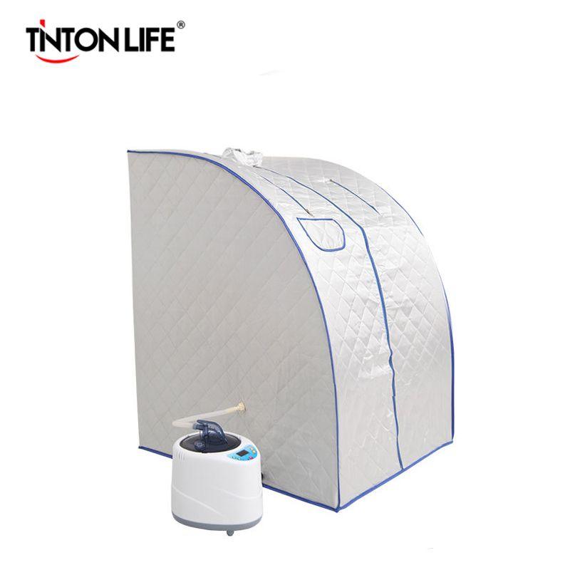 Dampf Sauna Zimmer Intelligente Drahtlose Fernbedienung Vorteilhaft Haut Infrarot Gewicht Verlust Kalorien Bad SPA mit Sauna Tasche