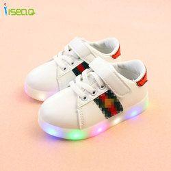 Chaussures pour filles et garçons lumineux lumineux de sneakers bébé fille chaussures enfants chaussures enfants chaussures de sport EUR 21-30