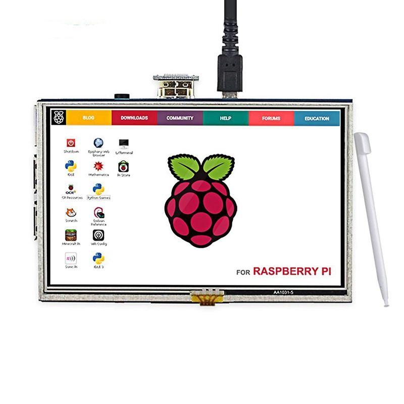 Elecrow LCD 5 Pouce Framboise Pi 3 Affichage Écran Tactile HDMI 800x480 5