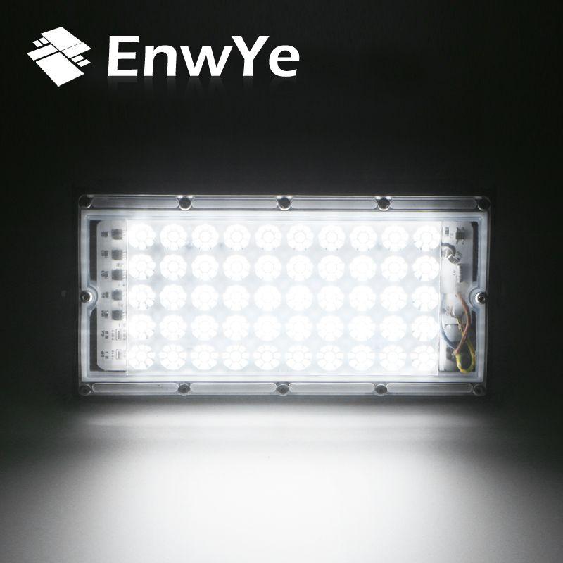 EnwYe 50 W puissance parfaite LED projecteur de lumière d'inondation LED lampadaire 220 V 240 V étanche paysage éclairage IP65 LED projecteur