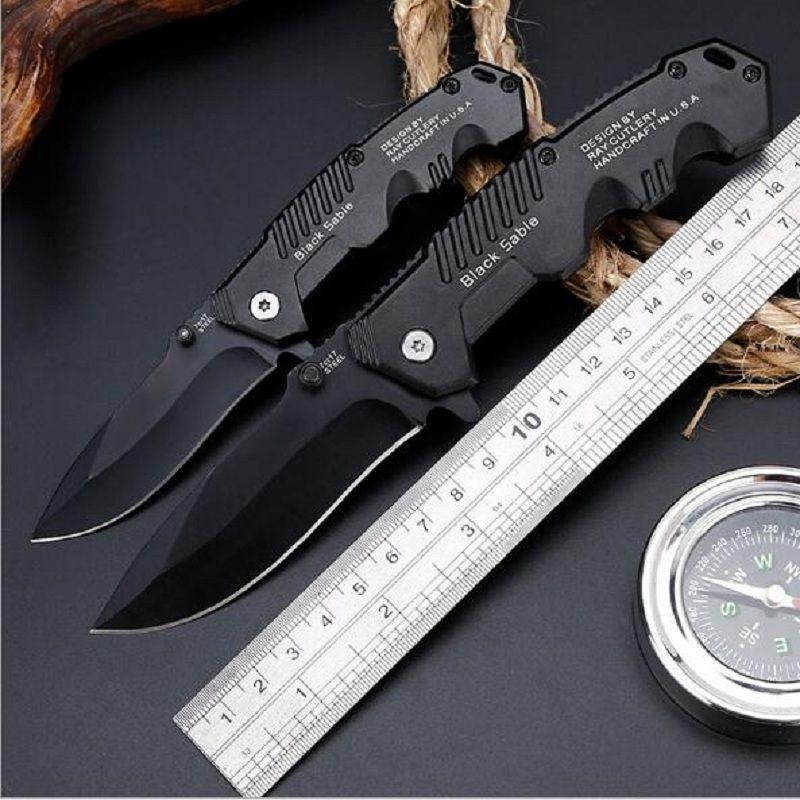 Couteau de haute dureté tactique direct usine couteau de survie multifonction couteau pliant auto-défense couteaux d'extérieur