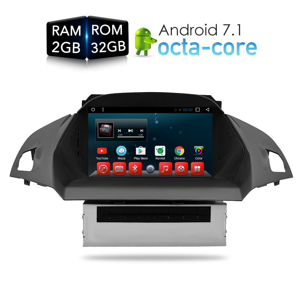 Android 7.1 Auto DVD Player GPS Glonass Navigation Multimedia für Europa Ford Kuga C Max 2013 + Auto Radio Audio Video stereo