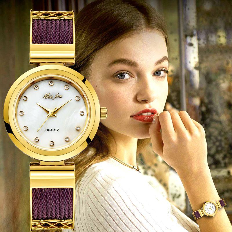 Casual Kleid Handgelenk Uhren Für Frauen Marken Genf Damen Uhren frauen Edelstahl Armband Mode Uhr Weibliche Gold Uhr