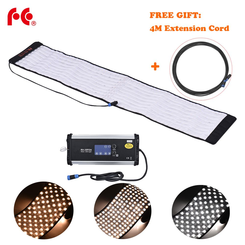 FalconEyes RX-29TDX 100W Roll Flex LED Mat Fill-in Light Panel Bi-Color 3000K-5600K CRI95 for Photo Video Studio Photography