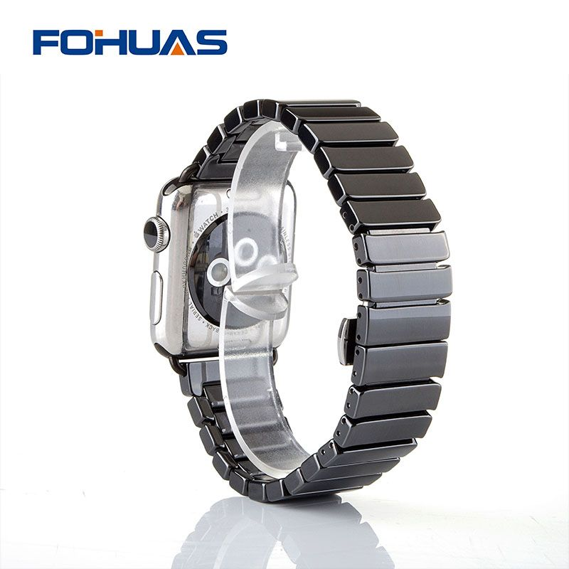 FOHUAS Ceramic Watchband for Apple Watch 38mm 42mm Smart Watch Band Link Strap Bracelet Ceramic Links Watchband for iWatch