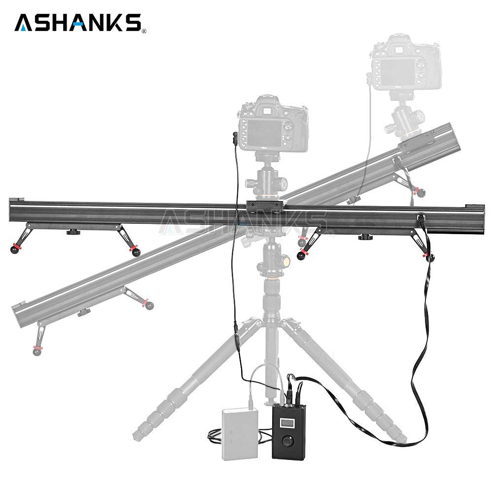 ASHANKS Aluminium Kamera Rutsche Motorisierten Elektro Verzögerung Slider Schiene Stabilisator für Fotografie Canon DSLR TimeLapse Video
