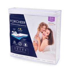 Гладкий Водонепроницаемый защитный наматрасник для кровати твердый белый Wetting дышащий гипоаллергенный защитный чехол-накладка против кле...