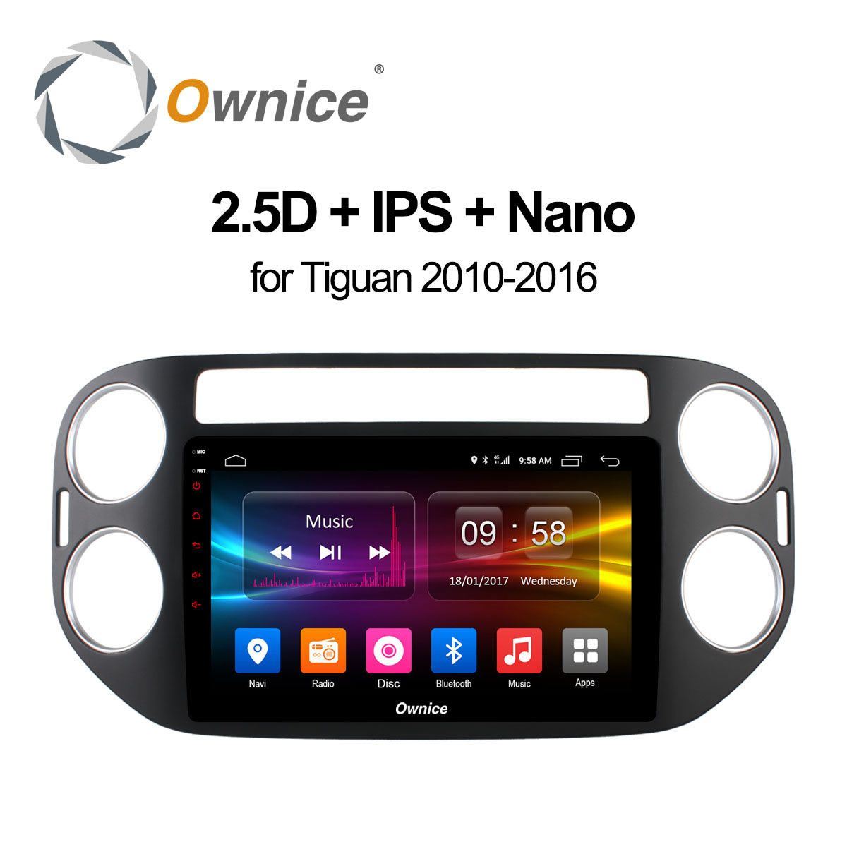 Ownice C500+ Android 6.0 Octa eight core Car radio DVD GPS navi player for Volkswagen tiguan 2010 2011 2012 2013 2014 2015 2016