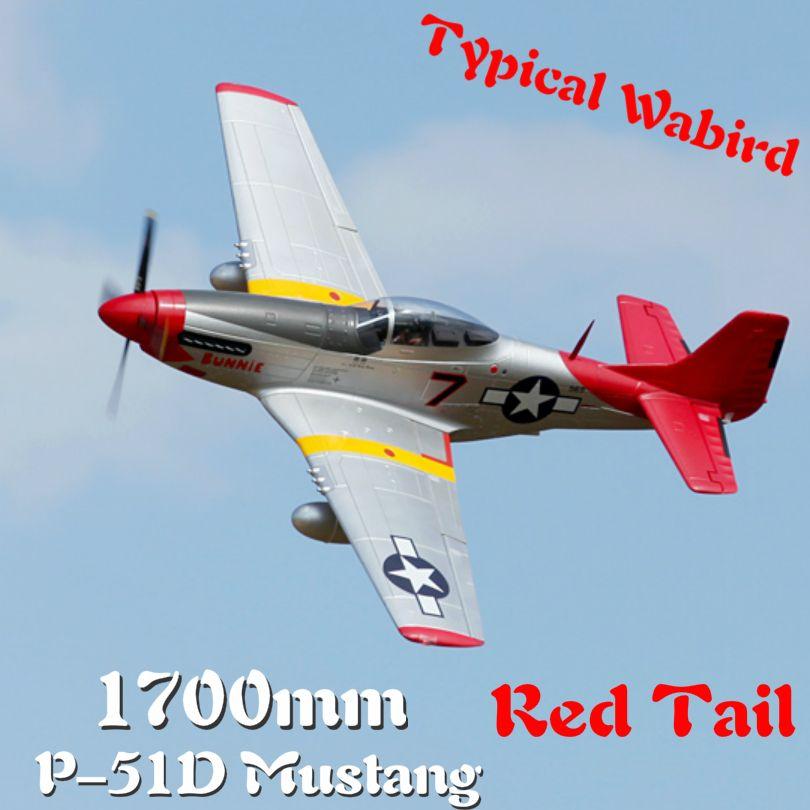 FMS 1700mm 1,7 M P51 P-51D Mustang Rot Schwanz 6CH 6 S mit Klappen Fährt PNP RC Flugzeug Warbird modell Hobby Flugzeug Flugzeug Avion
