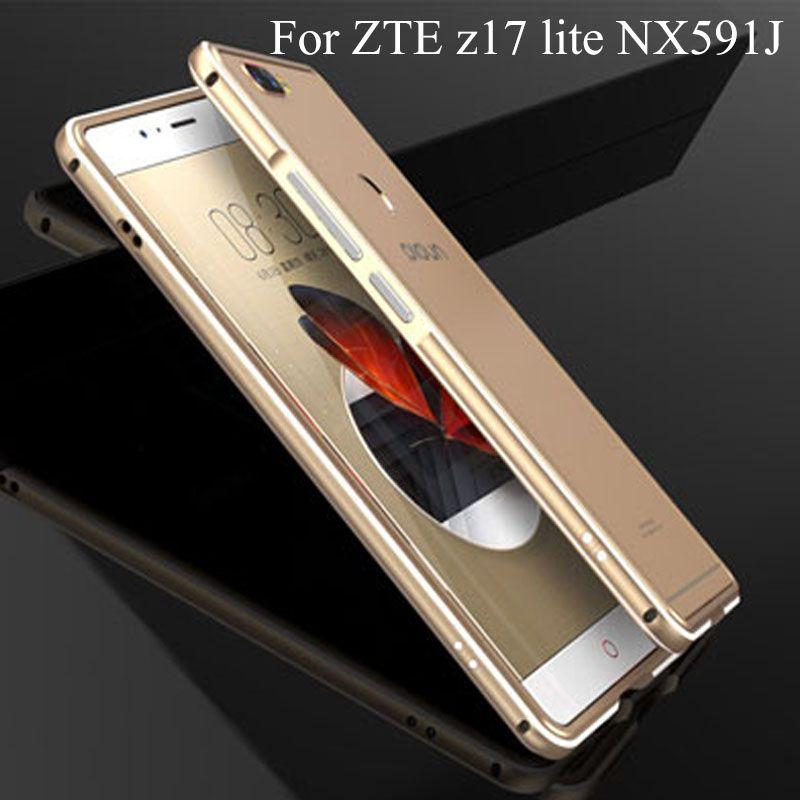 Luxury Brand Aluminum Metal Bumper For ZTE Nubia Z17 lite Z 17 lite nx591j Metal Case Cover Column Shape Frame nx 591j