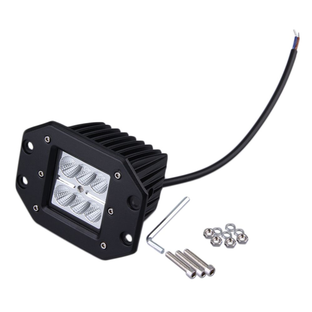 1PC 4INCH 18W  Square Flood LED Work Light Bar Bumper Off Road TRUCK for Jeep Hot Selling