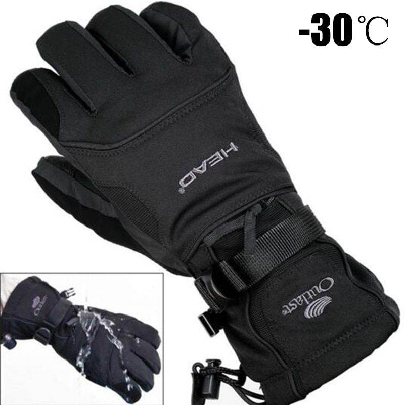 2018 Men's Ski Gloves Fleece Snowboard Gloves Snowmobile <font><b>Motorcycle</b></font> Riding Winter Gloves Windproof Waterproof Unisex Snow Gloves