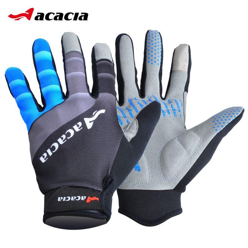 Écran tactile gants de cyclisme coupe-vent Sports de plein air vélo vélo complet doigt gants d'hiver chaud Sports longs gants 03943