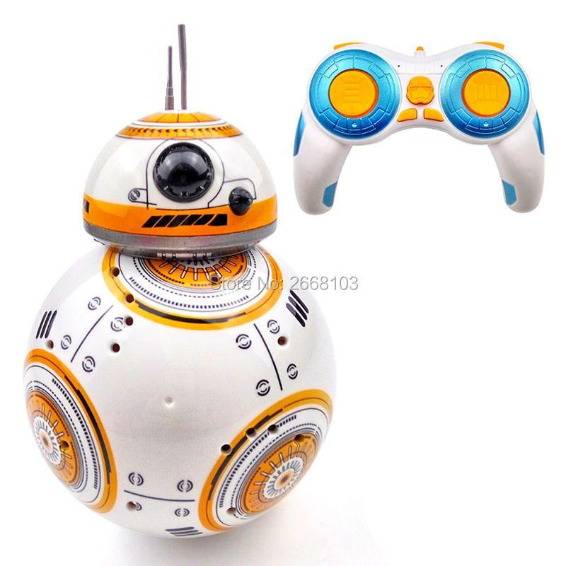 Mise à niveau Modele Boule Star Wars RC BB-8 Droïde Robot BB8 Robot Intelligent 2.4g Télécommande Jouets Pour Fille Cadeaux avec Son Action
