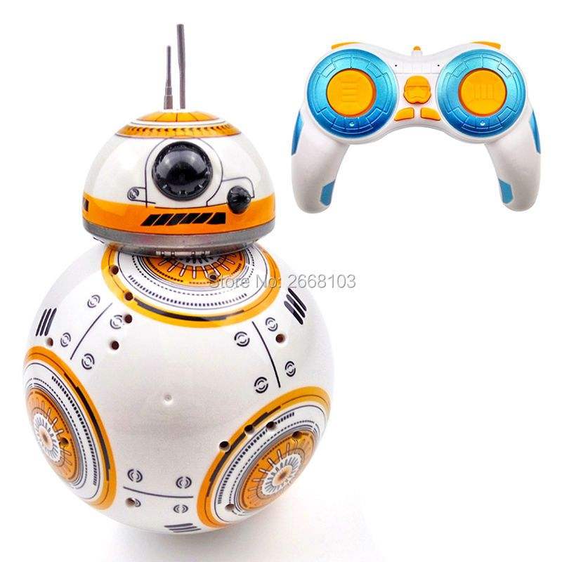 Upgrade Model Ball Star Wars RC BB-8 Droid Robot BB8 Intelligent Robot 2.4G Remote Control Toys For Girl Gifts With Sound Action