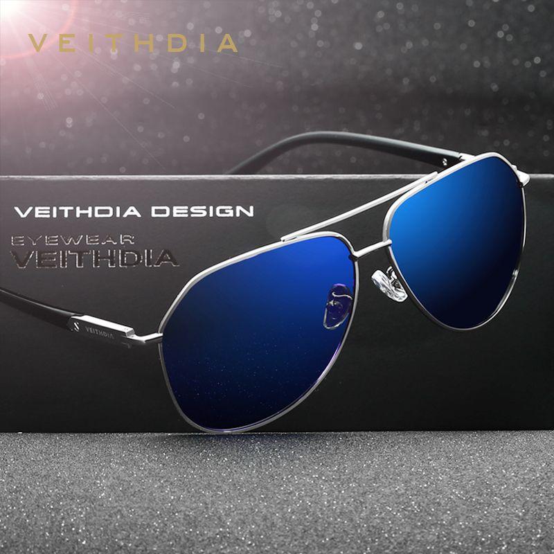VEITHDIA Polarisées Vintage lunettes de Soleil Hommes Nouvelle Arrivée Marque Designer Lunettes de Soleil Lunettes gafas oculos de sol masculino 2732