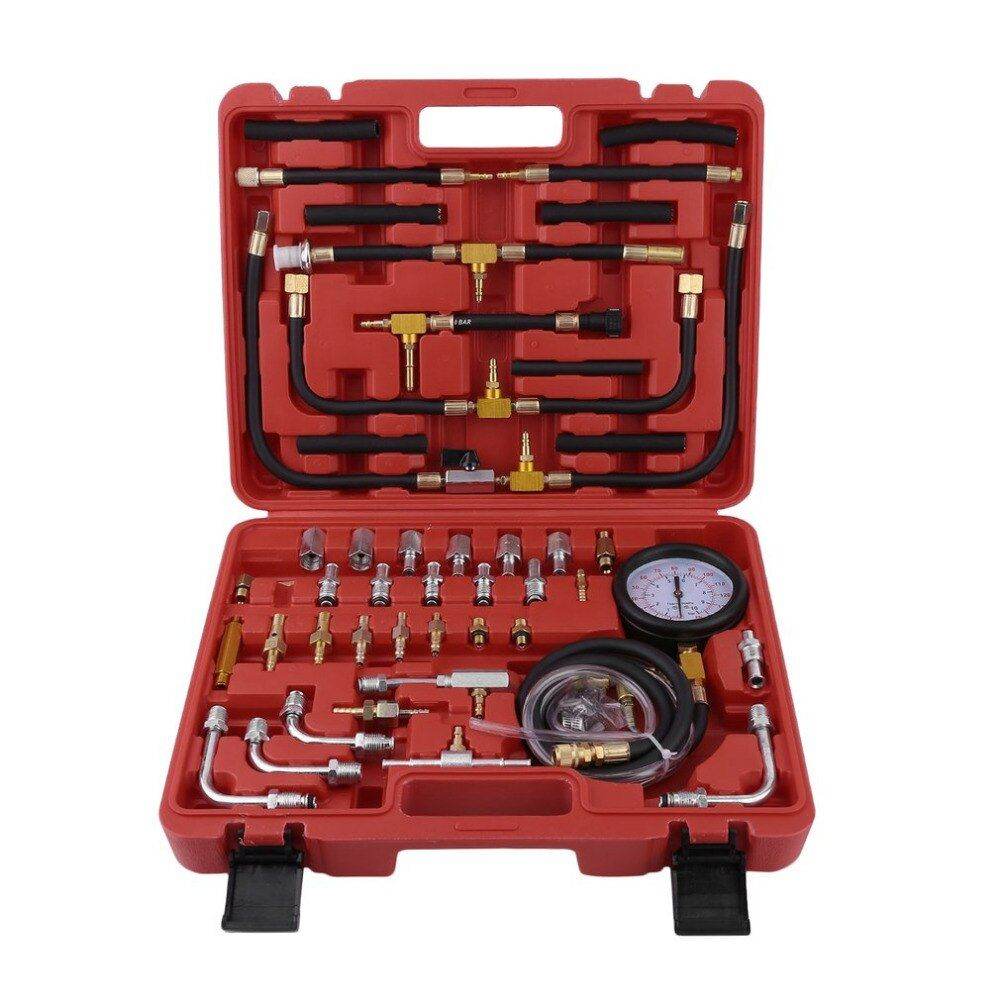 Universal Vehicles Gasoline Pressure Tester Compression Meter Injection System Fuel Pressure Gauge Automotive Tools 0-10 Bar New