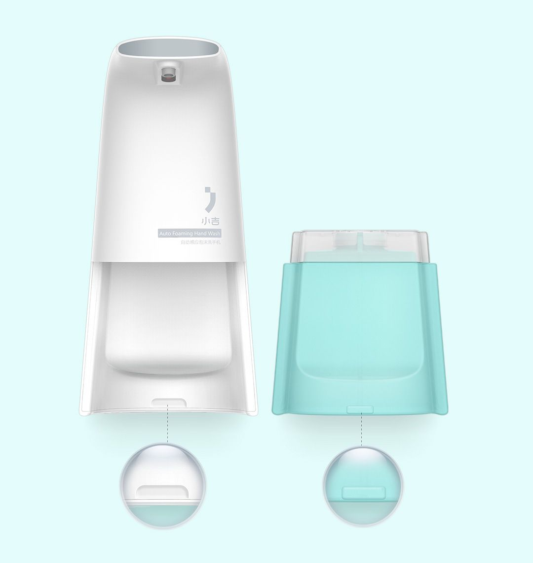 Automatically Touchless Foaming Dish Inducs Foam Washing Soap Dispenser Smart Sensor Sanitizer Dispensador For Kitchen Bathroom