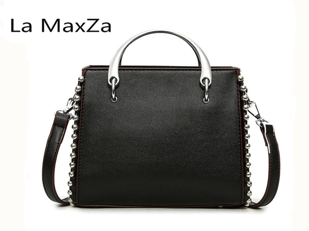 La MaxZa 2018 New Shoulder Messenger Wild Bag Hardware Hard Rivet Portable Small package