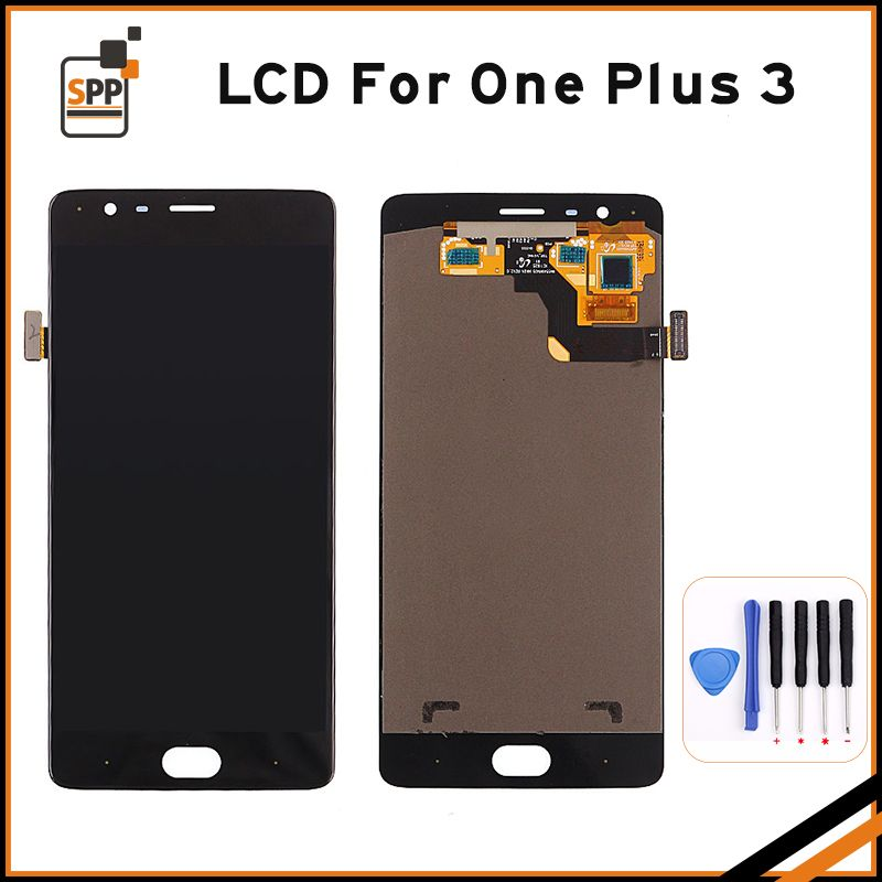 Original Oneplus 3 LCD Display with Frame Touch Screen Digitizer for Oneplus3 Three A3003 A3000 LCD Assembly Phone Parts