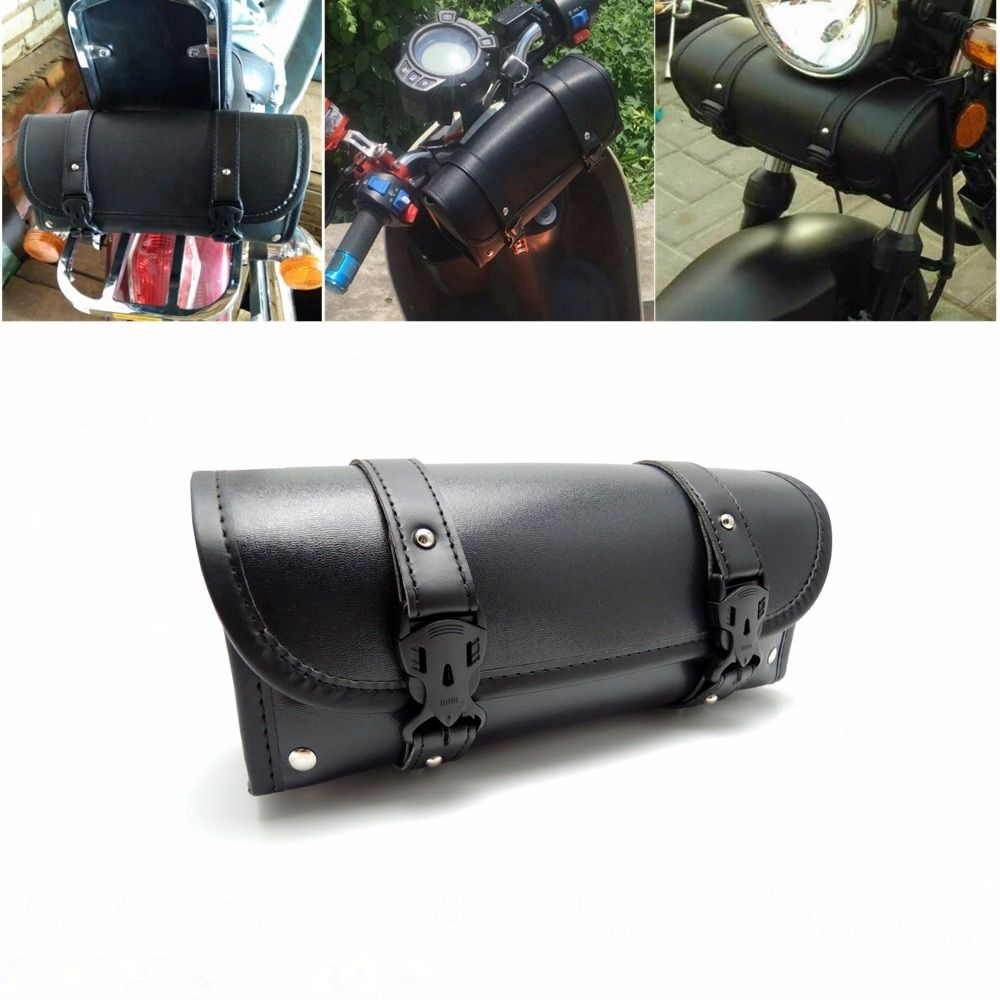 For Harley Scooter  Storage Tool Pouch Motorcycle Luggage Bag Front Forks Bags Sissy Bar Tool Bags Handlebar Bags