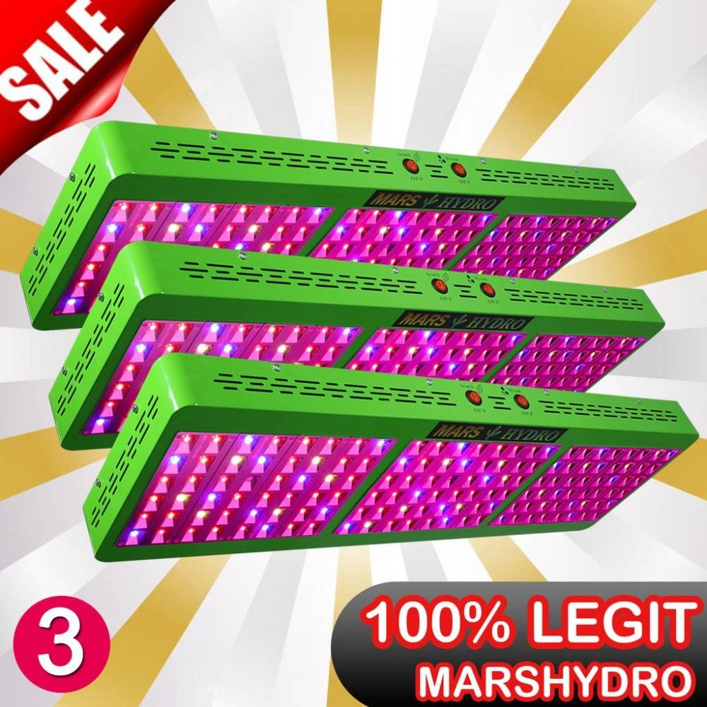 3PCS Mars Hydro Reflector 720W Full Spectrum Led Grow Light/Panel Hydroponic System for Indoor Growing