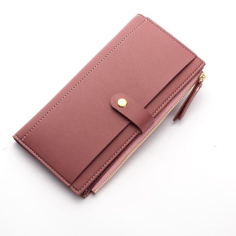 Lange Feste Luxus Marke Frauen Brieftaschen Mode Haspe Leder Geldbörse Weiblichen handtasche Frauen Clutch Geldbörsen Geldbeutel Damen Kartenhalter