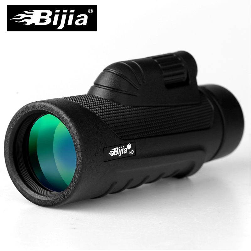 BIJIA 10x42 Hohe Qualität Einzigen Fokus Optic Linse Monokulare rutschfeste Tasche Teleskop Jagd Reise Spektiv