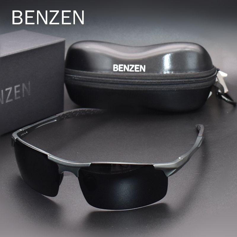 BENZEN Polarisierte Sonnenbrille Für Männer Qualität Al-Mg Sport Sonnenbrille Männlichen UV Schutz Outdoor Fahrer Brille 9333