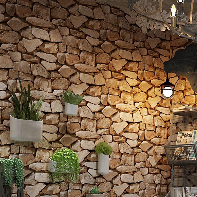 Vintage Papier Peint Brique Vinyle Mur Papier Roll Bar Restaurant Café Boutique Chambre Salon Toile de Fond Rustique 3D Pierre Fonds D'écran