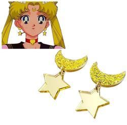1 пара аниме Сейлор Мун косплэй Kawaii Star Moon космические серьги уха клип