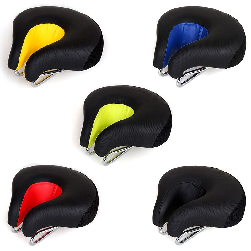 Lumiparty Outdoor Bicycle Saddle U-shape Comfortable Shock Absorption Bike Saddle for Men and Women
