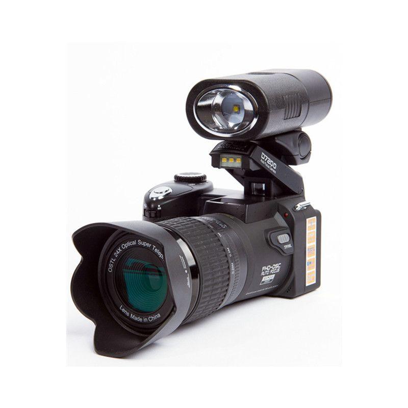 2018 HD JOZQA POLO D7200 Appareil Photo Numérique 33 Millions de Pixels Mise Au Point Automatique Professionnel REFLEX Vidéo Caméra 24X Zoom Optique Trois lentille