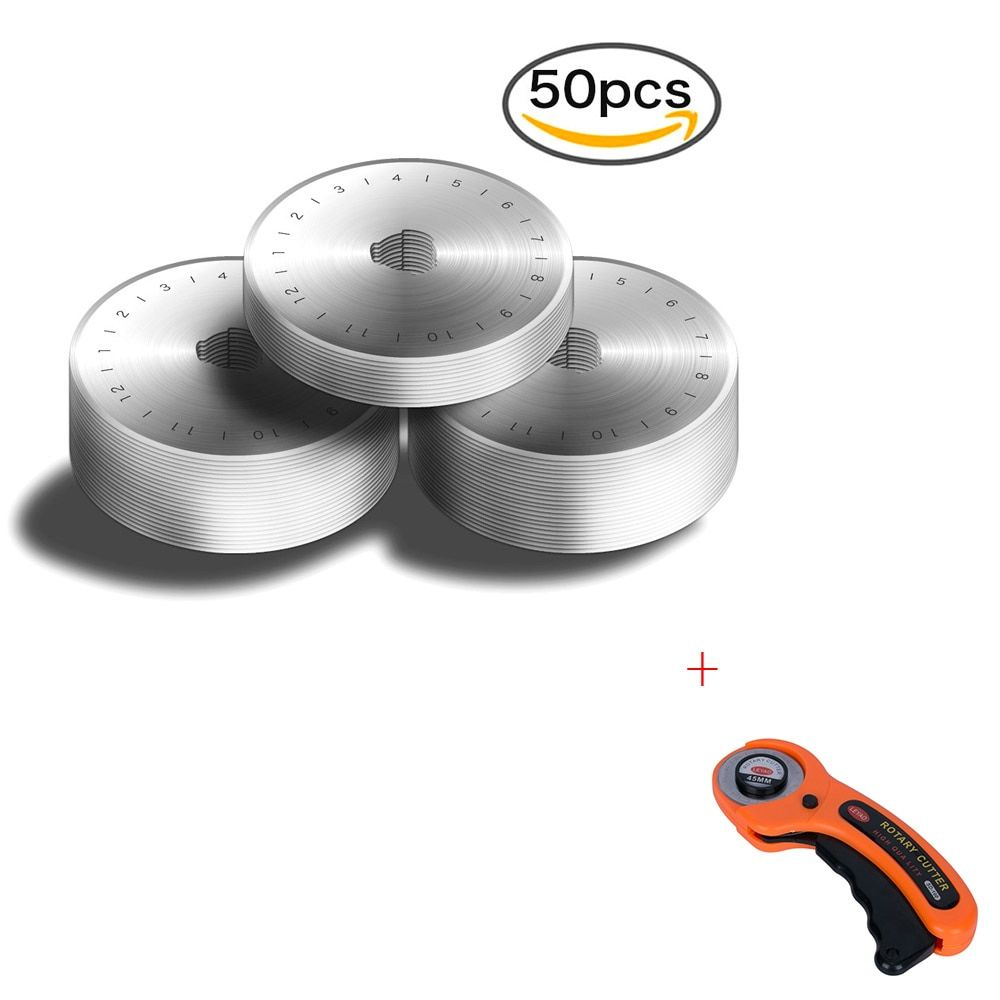 Dropshipping 50pcs 45MM Rotary Cutter Blades + Rotary Cutter