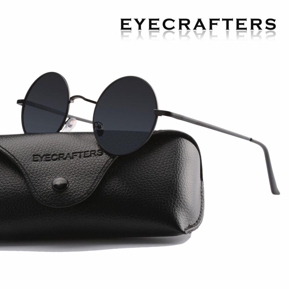 Femmes conduite lunettes de soleil en métal nouvelle marque Designer classique polarisé rond lunettes de soleil hommes petit Vintage rétro John Lennon lunettes