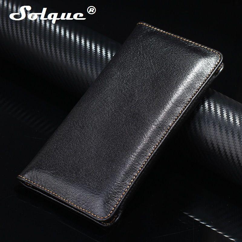 Solque реального Пояса из натуральной кожи Телефонные Чехлы для iPhone 7 8 плюс 6 S плюс Роскошный кошелек сумка карты магнит откидная крышка