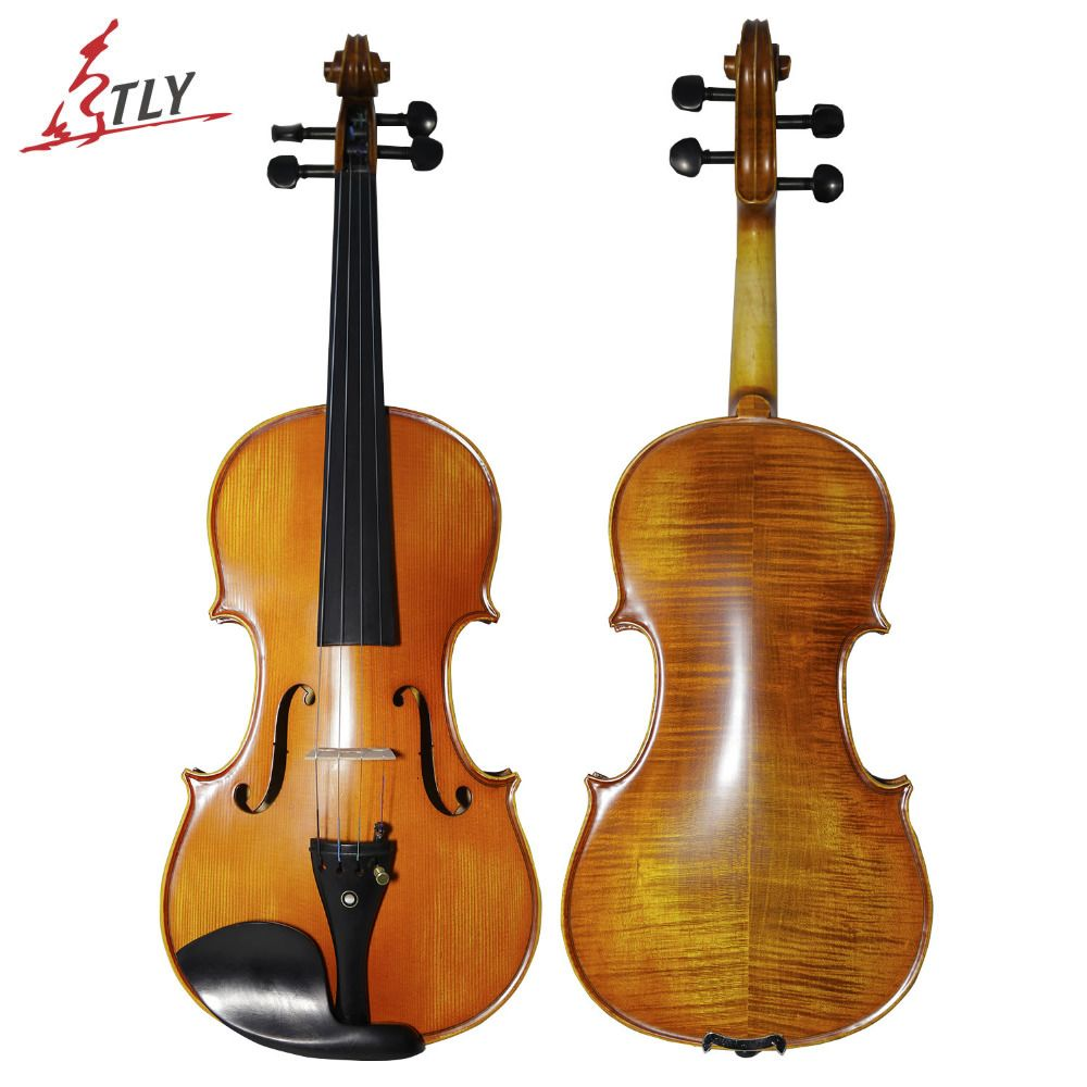 TONGLING Brand Matt 4/4 Violin Natural Stripes Maple Master Hand-craft Antique Professional Violin Musical Instrument+ Bow Rosin