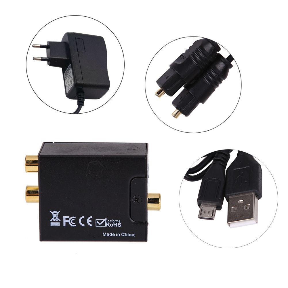 Numérique Optique Coaxial toslink Signal Analogique Audio Converter mâle à mâle Adaptateur RCA L/R audio ROYAUME-UNI/adaptateur UE/ÉTATS-UNIS