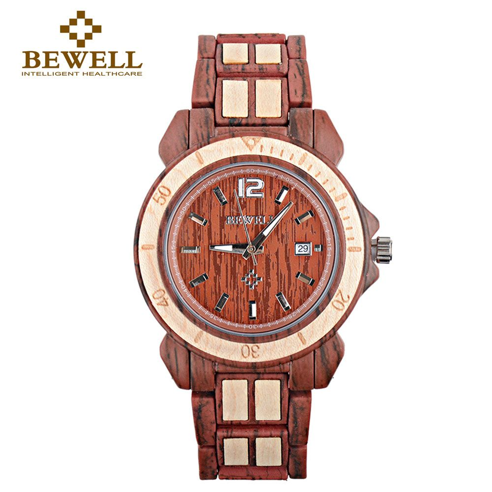 BEWELL men's watch women's watch couple jewelry natural wood production leisure section clock brand special design 1054A