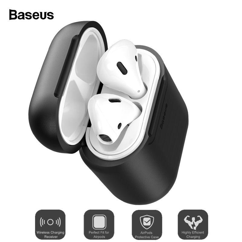 Baseus Qi Wireless Charging Fall Für Airpods Anti-Knock Silikon Schutzhülle Für Airpod Air schoten Coque Mit Wired lade