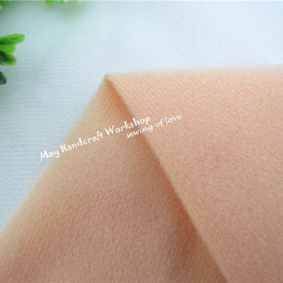 Demi mètre kaki poupée peau polaire tissu tissu solide couleur peluche tissu pour coudre Patchwork Quilting chair Tissue145 * 50 cm