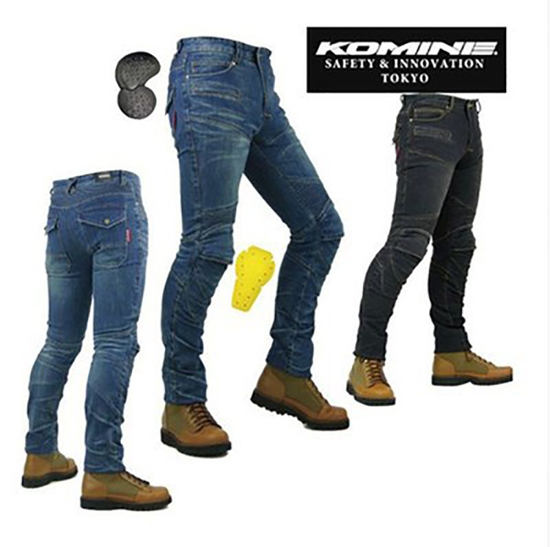 KOMINE PK718 Motorcycle Men Pants Off-road Women Trousers Outdoor Men Jeans Cycling With Protective Pads Pants Unisex slim pants