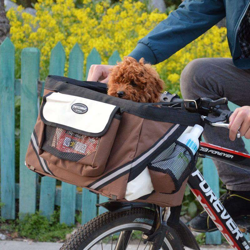 Портативный собака Прокат сумка Корзина Щенок Cat путешествия велосипеда сиденье сумка для маленьких собак Продукты Туристические товары