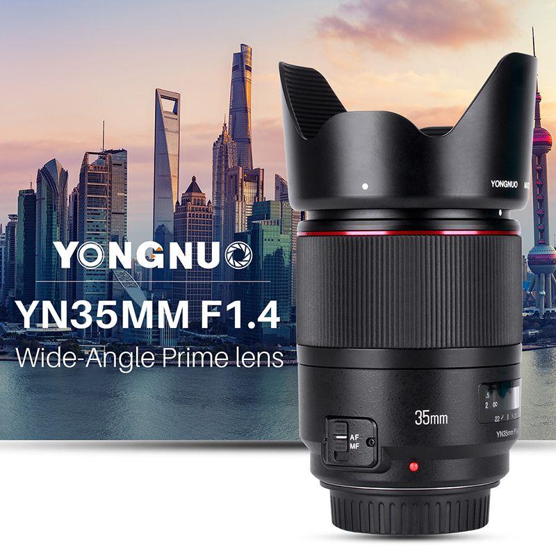 YONGNUO Weitwinkel Prime Objektiv YN35mm F1.4 Helle Große Blende AF MF Linsen für Canon DSLR kameras