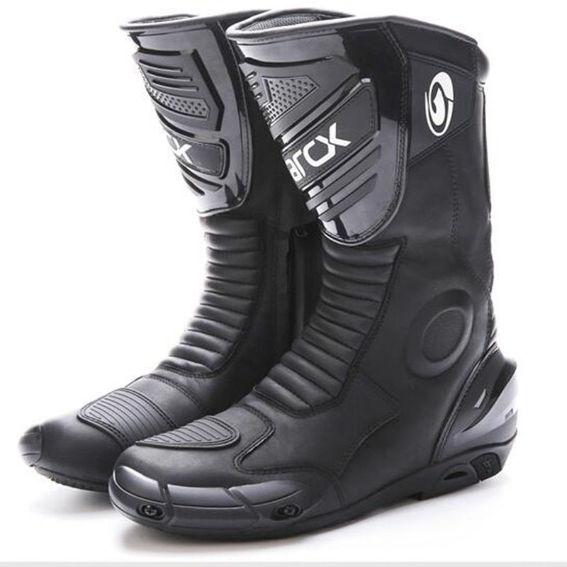 Motorcycle waterproof Boots Real Leather Motorbike Motocross Racing Boots Protector Gear Motor Bike wear Reflective Shoes