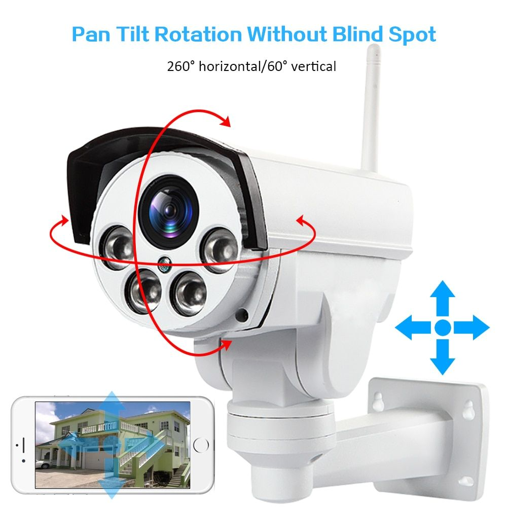 HD1080P Wifi 3g 4g SIM PTZ 5X Zoom waterproof camera Support Max 128G Night vision 50 meters p2p outdoor CCTV security camera