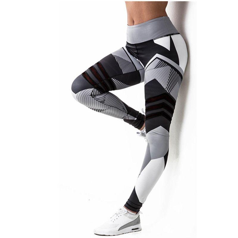 2018 vente femmes Leggings haute élastique Leggings impression femmes Fitness Legging Push Up pantalon vêtements sport Leggins