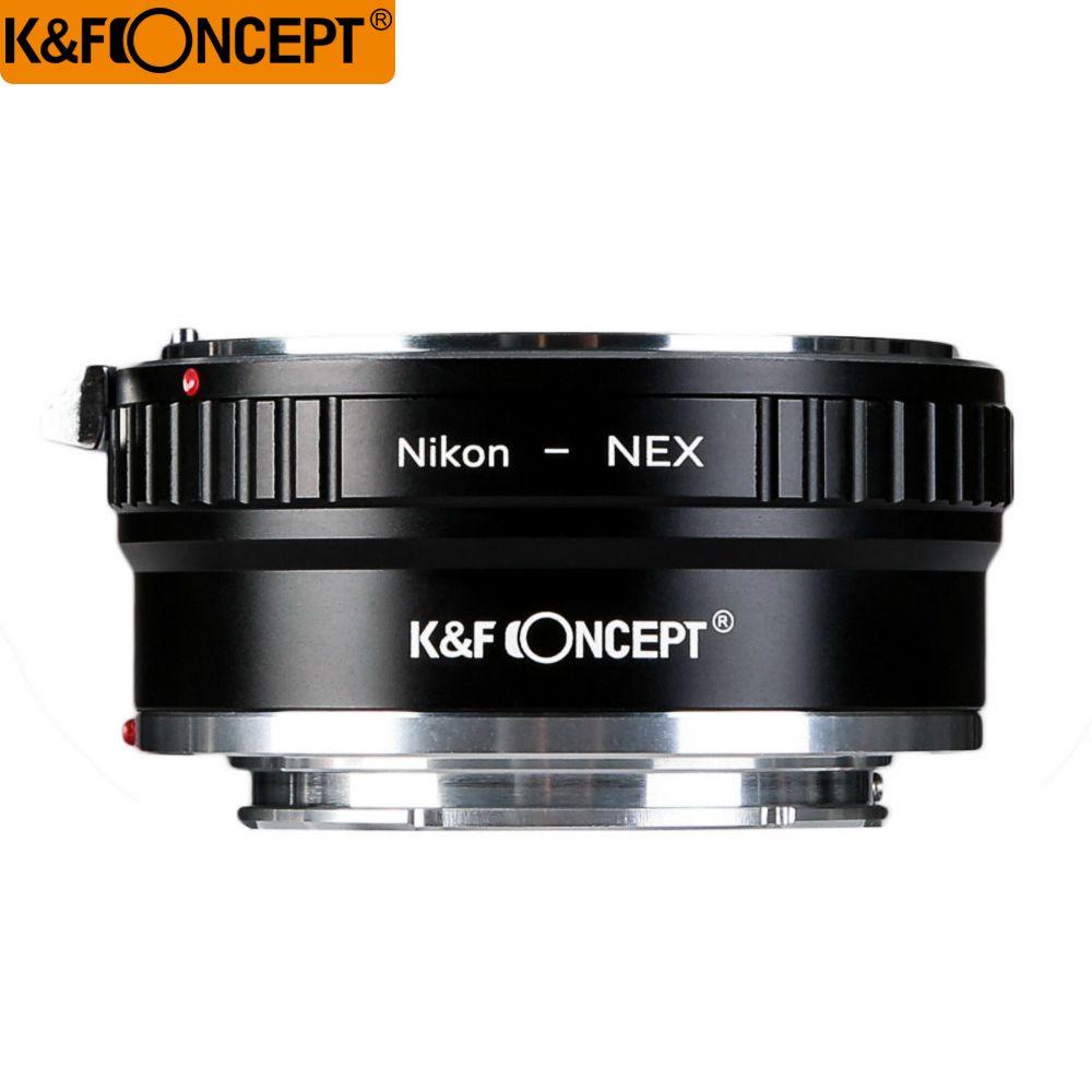 K & F Concept Haute-précision Lentille Adaptateur AI-NEX Pour Nikon AI Lens Pour Sony NEX NEX-5 7 3 f5 5R C3 E Mont Caméra